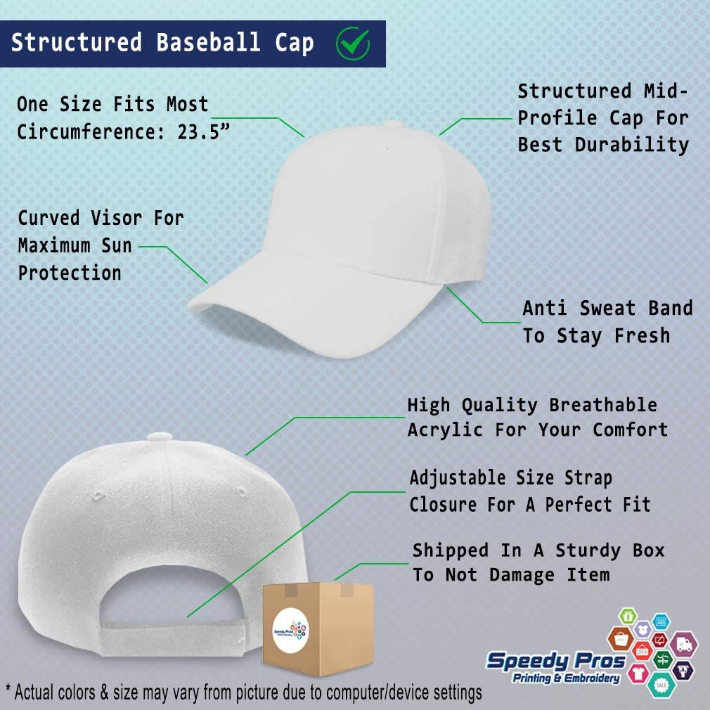 Custom Baseball Cap Balloon Embroidery Dad Hats for Men /& Women Strap Closure