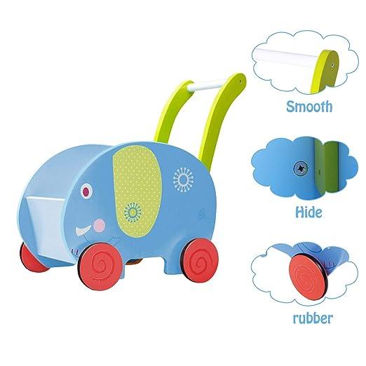 Amazon.com: Labebe Baby Walker con rueda, Walker, 2-en-1 ...