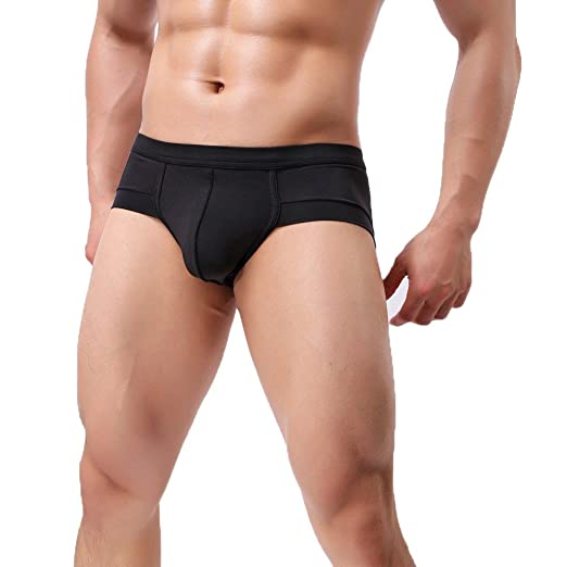 8f2e61521f NEARTIME Men's Underwear, Mens Low Waist Boxers Briefs Men Underpants Soft  Shorts (M,