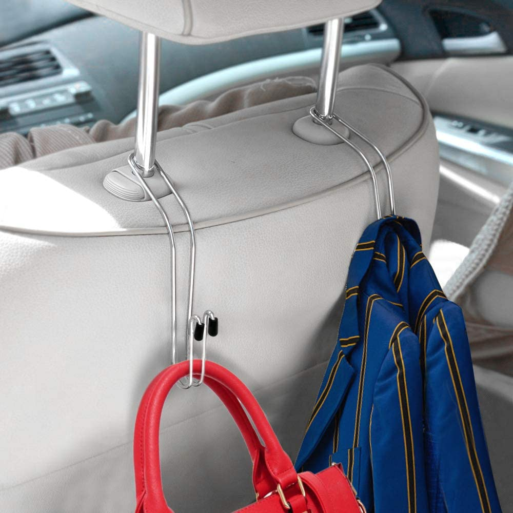 Pack of 4 Hooks QMET Auto Hooks Car Hangers Organizer