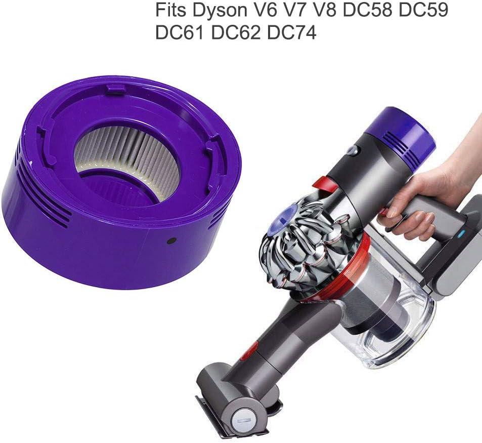 Carkio - Filtro de repuesto con cepillo de limpieza para aspiradora Dyson V7 V8 Animal Absolute Motorhead inalámbrica, reemplaza 967478-01, filtro de poste de estilo HEPA: Amazon.es: Hogar