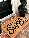 Tar Heel MarketPlace Mats Natural Coir Non Slip Home Sweet Home Floor Entrance Door Mat Indoor/Outdoor (24, 36) + FREE Rubber Mat (20 Value)