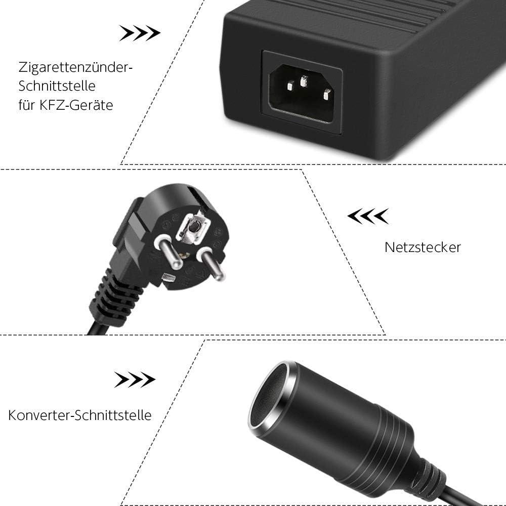 Tiamu Adaptador Corriente para Autom/óVil 120W 12V 10A Adaptador Fuente Alimentaci/óN AC 240V AC una 12V Adaptador de Red Enchufe de la UE 230 Transformador de Voltaje 100-220V