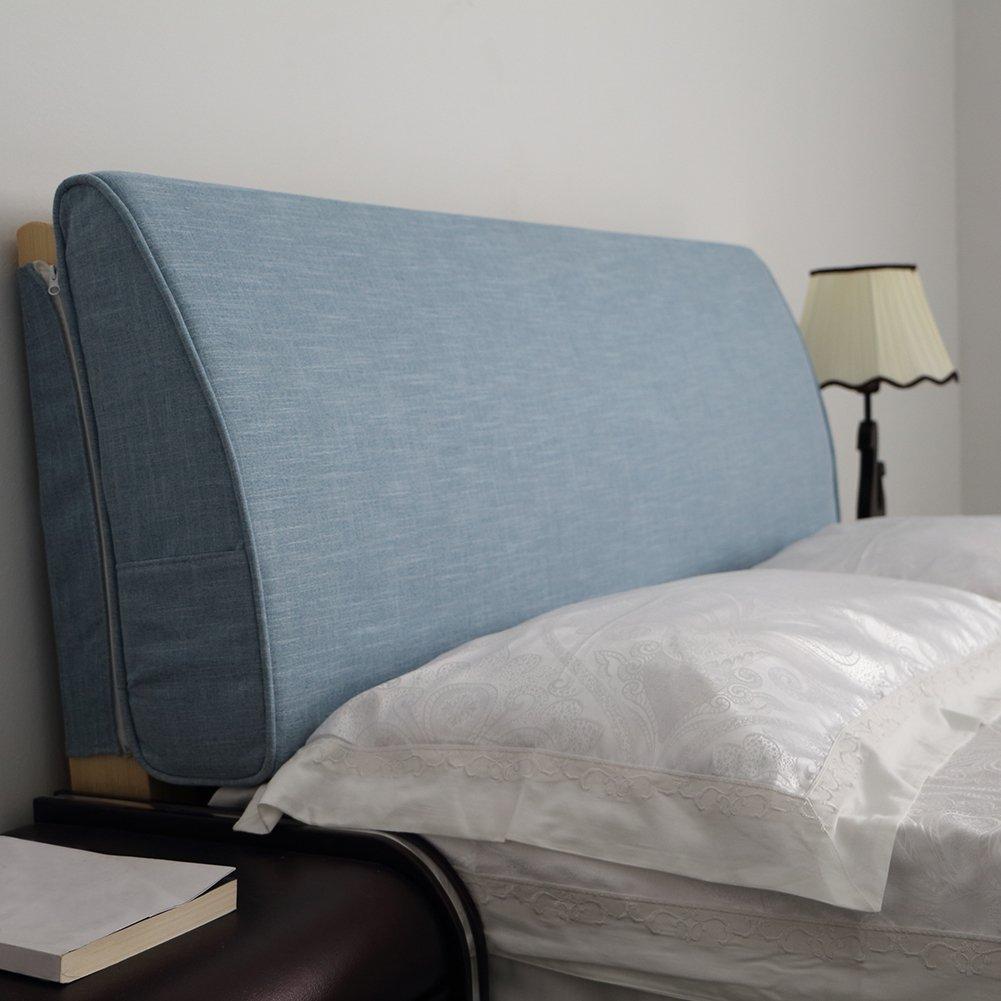 VERCART Wedge Pillow Bed Wedge Pillow Sofa Rückenlehne Kopfkissen, Keilkissen,Rückenkissen, Fernsehkissen, Ergokissen Weich Lesekissen Stützkissen Bettkissen Blau 200x50x15cm
