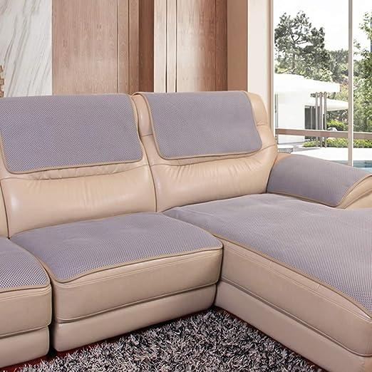 YEARLY Red Antideslizante Funda para sofá, Agujero de Nido de Abeja Piel Funda de sofá Cubrecanapé Four Seasons Tela Nordic Moderno Muebles ...