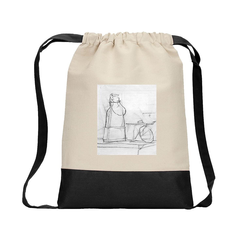 Siphon (Juan Gris) Canvas Backpack Color Drawstring Bag