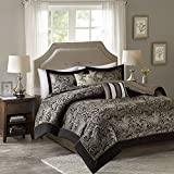 King Size Comforter Sets Comfort Spaces King Size Comforter Set - 5-Piece - Charlize King Jacquard Comforter Set - Black and Gold - King/Cal-King Size