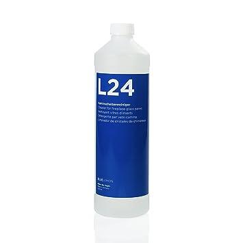 BLUELEMON Professional Limpiador de Cristales de chimeneas 1000ml L24 Biológico | 90514 | Limpiador Especial con Espuma Activa para Limpiar Cristales de ...