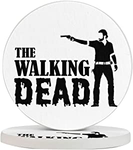 The Walking Dead Funny Coasters, Multi-Purpose Diatomite Coasters, Protect Furniture from Water Marks Scratch and Damage(1pcs-6pcs)