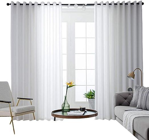 ILMF Semi-Sheer Voile Window Curtain