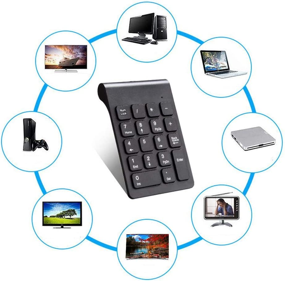 Small and Stylish Keyboard for Entertainment Office 133x128x22cm Light-Ren Mini Keyboard 2.4G Wireless Connection