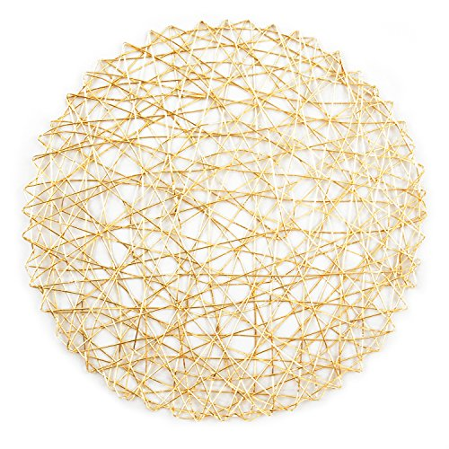 DII Woven Paper Round Decorative Metalic Placemat or  : 61kG5T1fE4L from www.desertcart.ae size 500 x 500 jpeg 74kB