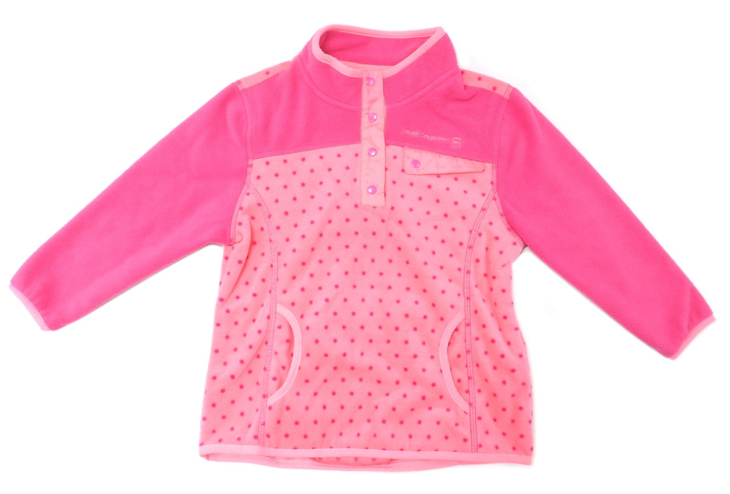 Free Country Girls Size 4 Microtech Fleece Pullover, Pink Boot