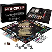 Monopoly Game of Thrones Table Board Game Collector's Edition Fast Dealing Property Trading Game Family Fun Educational Puzzle Playing Card