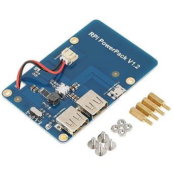 08b067d0e32 Akozon Lithium-Batterie-Erweiterungskarte Lithium Battery Akku Pack  Expansion Board für Raspberry Pi 3