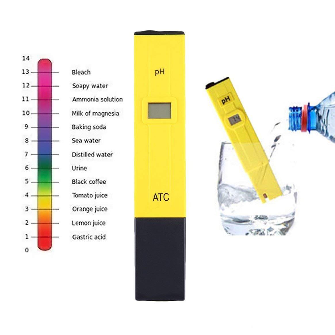 Medidor de pH digital portátil Prueba de calidad del agua Pluma Filtro Filtro de pureza TDS Probador Piscina del acuario SPA Monitor de calidad del agua ...