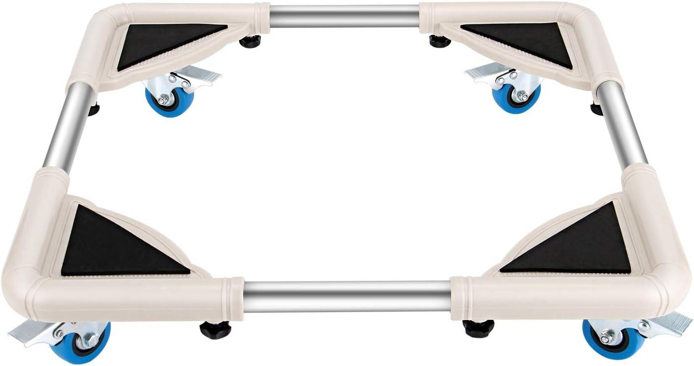 DOZAWA Telescopic Furniture Dolly with 4 Locking Wheels,Washing Machine Stand Refrigerator Base Moving Cart,Size Adjustable