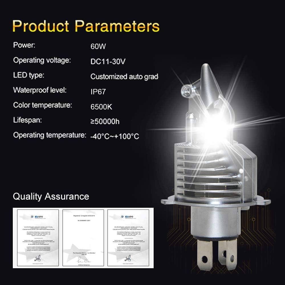 H7 Led Headlight Bulbs Replacement H7 Led Headlights Headlamp 70W 8400LM 6000K 31mm Heatsink Base Custom Led Chip Automotive Headlight Bulb for Car V6 H7
