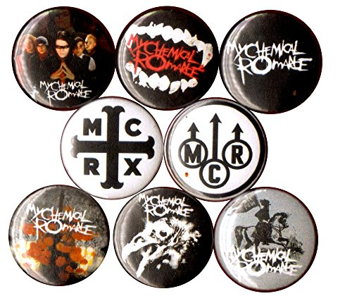Mcr The Black Parade Costume (MY CHEMICAL ROMANCE 8 NEW button pin badge MCR EMO stocking stuffer)