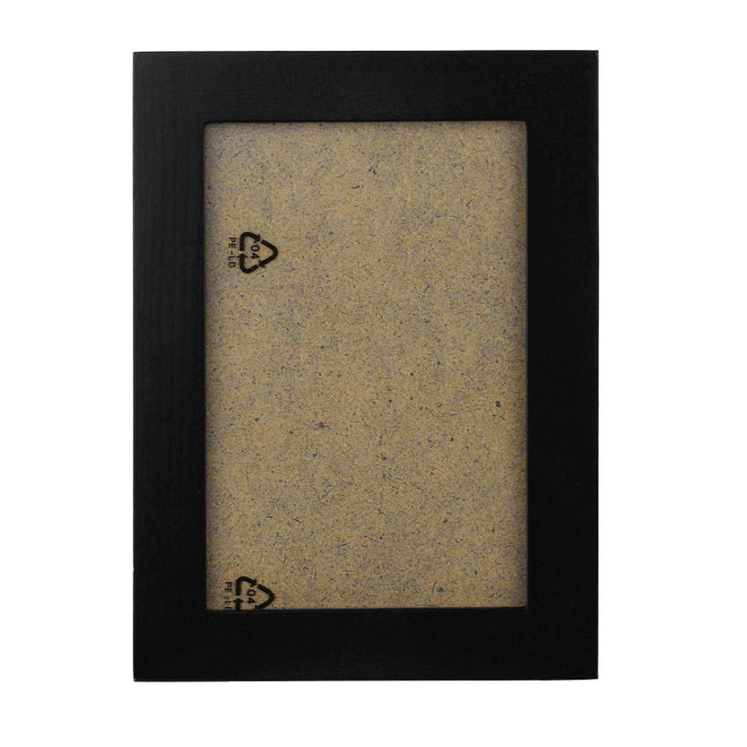 Hstore Picture Frame 20.5x15.5cm_ Made to Display Pictures 16.5x11.5cm Wall Mounted Hanging & Table Top Display Wood Picture Frame for Wedding Gift Housewarming Gift Home Decor (Black)