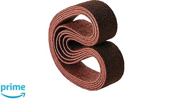 Aluminum Oxide A Pack of 10 Coarse Grit 18 Length x 3//4 Width PFERD 43562 Polivlies Surface Conditioning Abrasive Belt