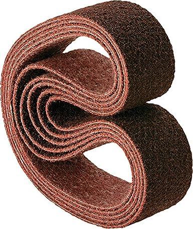 Fine Grit Pack of 10 PFERD 43561 Polivlies Surface Conditioning Abrasive Belt Aluminum Oxide A 24 Length x 1//2 Width