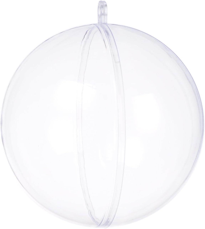 seekingtag Clear Fillable Ornaments Ball - Pack of 10 Individual 80mm Ornaments