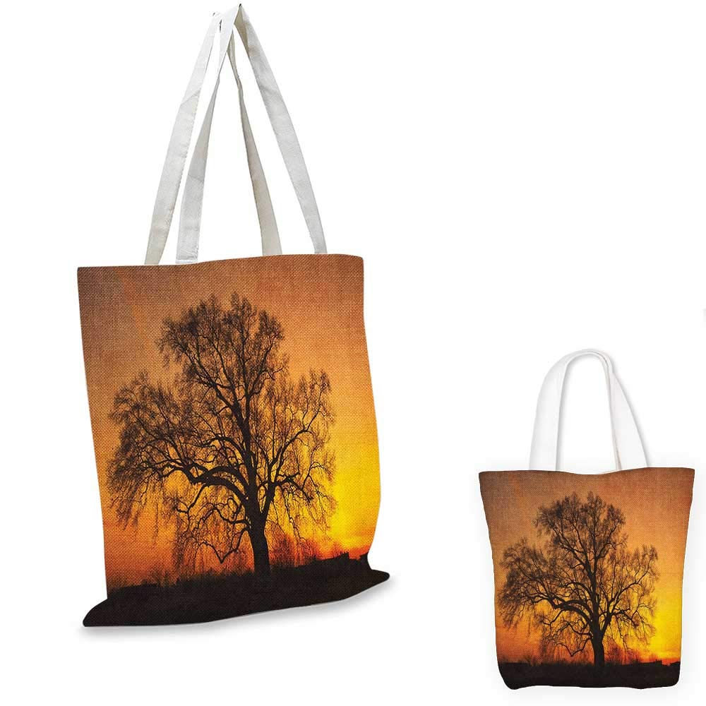 Tree canvas messenger bag Tropical Palm Trees Hawaiian Exotic Abstract Foliage Old Paper Backdrop Design canvas beach bag Sand Brown Black 14x16-11