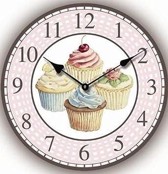 orologio da parete 4 cupcakes shabby look 30 cm per cucina o ... - Orologio Da Parete Per Cucina