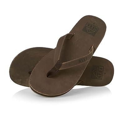 1da5f019d6db Reef Mens Skinny Leather Thong Toe Post Bronze Surfer Flip Flops Sandals -  Bronze Leather -