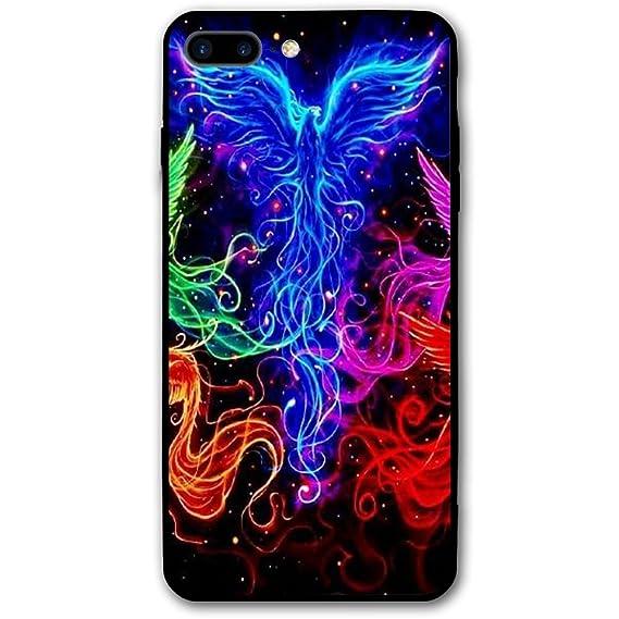 181ba1f2cef28 Amazon.com: KDFHKA IPhone 8 Plus Case, 7 Plus Case Rainbow Phoenix ...