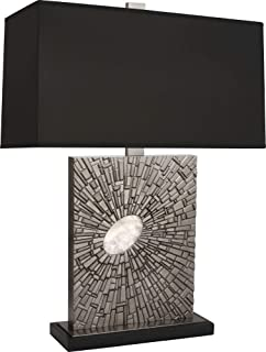 product image for Robert Abbey S415B Goliath - One Light Table Lamp, Shade Options: Black Opaque Parchment/Matte Silver