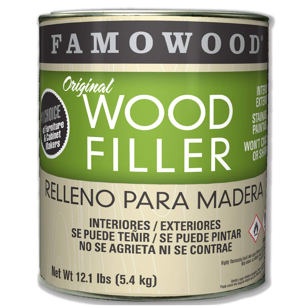 Famowood 36001124 Original Wood Filler, Maple, One gallon