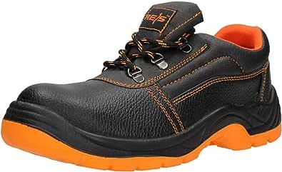 FUZZIO - Zapatos de Seguridad Hombre - Calzado de Trabajo - Cuero