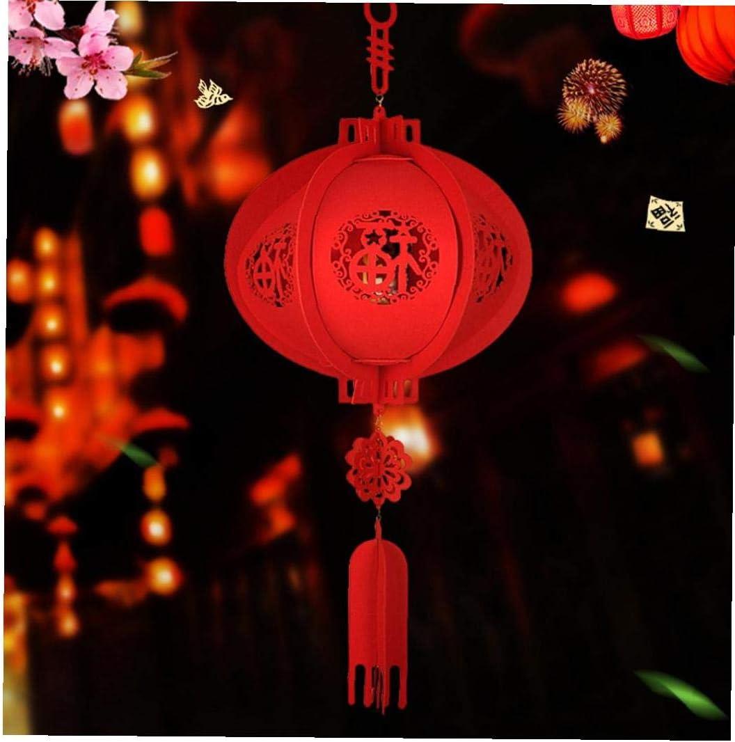 Chinois Lanterne Rouge Chanceux F/ête du Printemps Hanging D/écoration dint/érieur pour Les Fournitures de c/él/ébration du Nouvel an