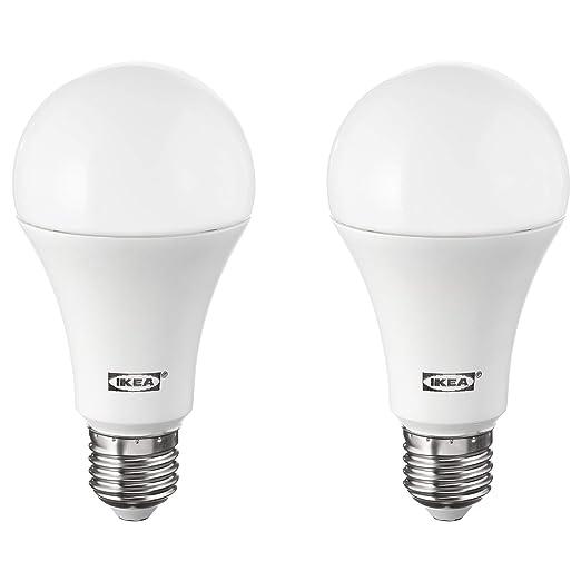IKEA RYET E27 - Bombillas de globo LED de 1600 lúmenes, 2 unidades