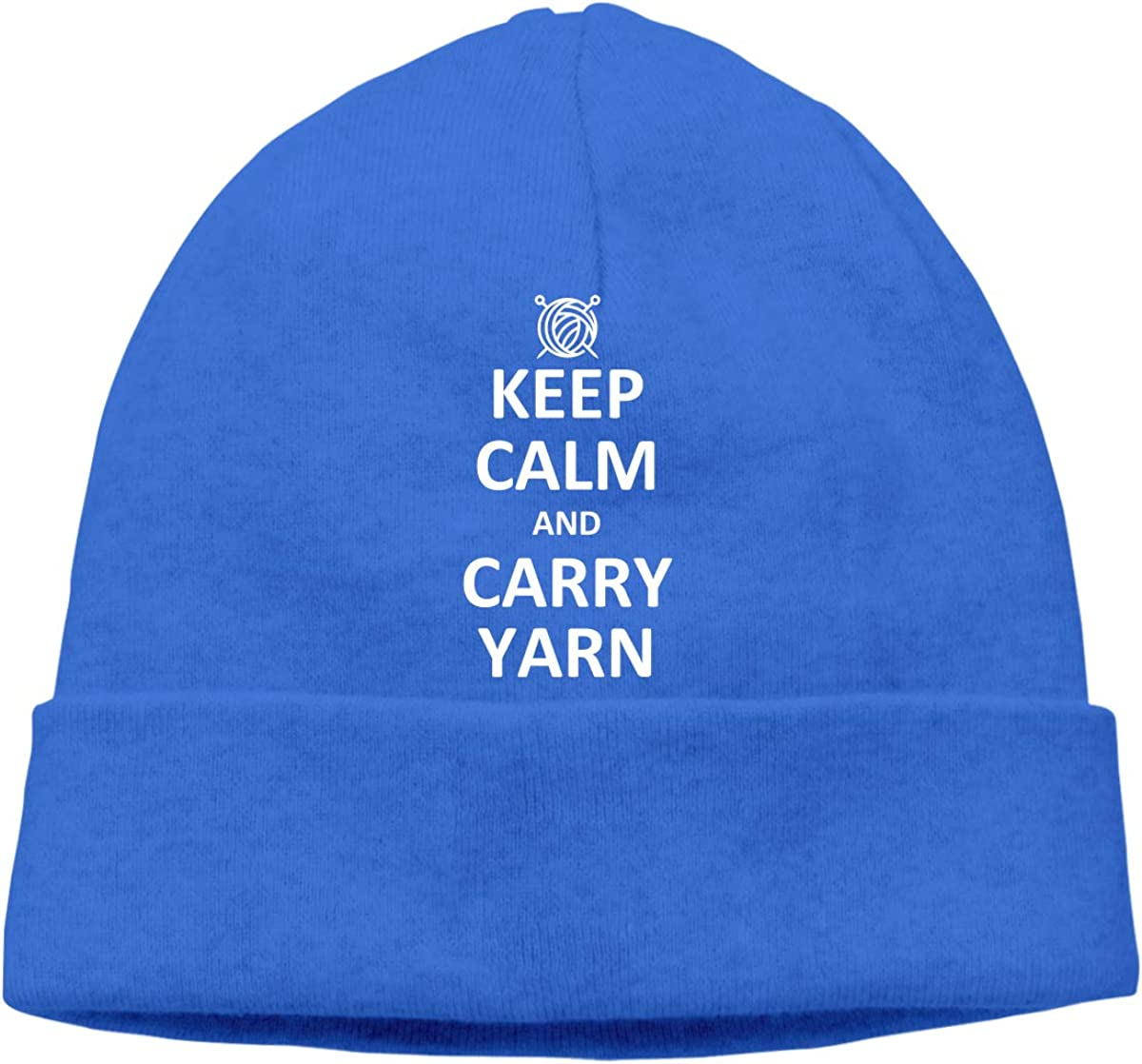 Beanie Hat Keep Calm and Carry Yarn Warm Skull Caps for Men and Women