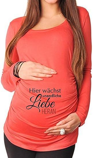 Tolles Geschenk Verschiedene Motive liebevoll Witzig Bedrucktes Umstandsshirt f/ür Die Werdende Mutter bellytime Umstands Langarmshirt//Schwangerschafts T-Shirt