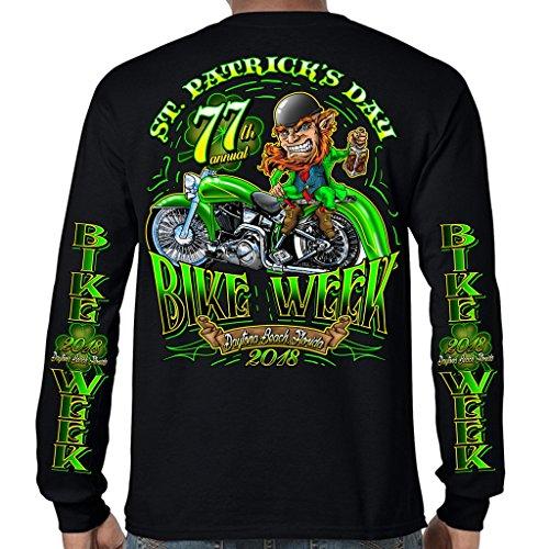 Biker Life USA 2018 Bike Week Daytona Beach St. Patty's Long Sleeve T-Shirt (Daytona Bike Week 2018)