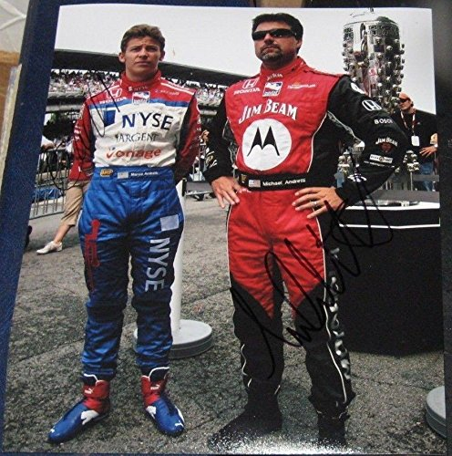 Michael Andretti Autographed Photograph - Marco Racing Indy 500 8x10 COA IRL - Autographed NASCAR Photos ()