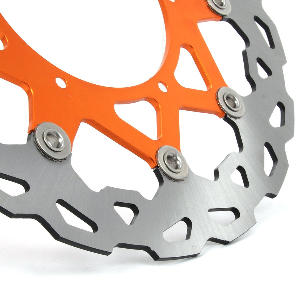 SX SXF EXC SXS XC MX MXC XCW XCF 400 450 500 505 520 525 530 540 XCG 600 620 625 640 GS LC4 ENDURO SUPERMOTO DUKE JFGRACING 320mm Orange Front Floating Brake Disc Rotor
