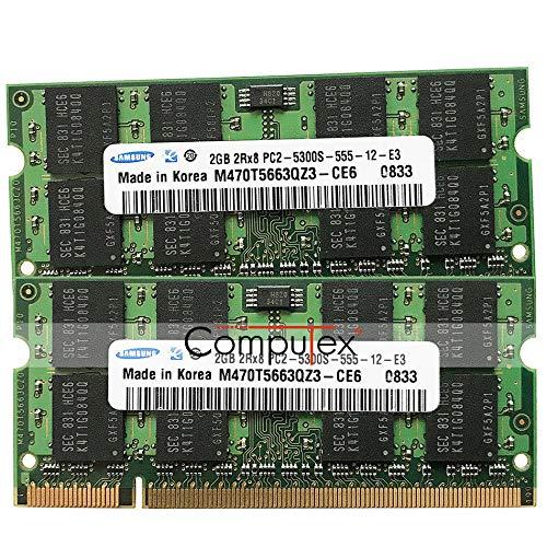 (FidgetGear 4GB KIT 2x2GB 667MHz PC2-5300 DDR2 for iMac 20inch Late-2006 MA589LL Memory)
