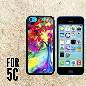 Awesome Tree of Life Custom made Case/Cover/skin FOR Apple iPhone 5c - Black - Rubber Case + FREE SCREEN PROTECTOR ( Ship From CA)