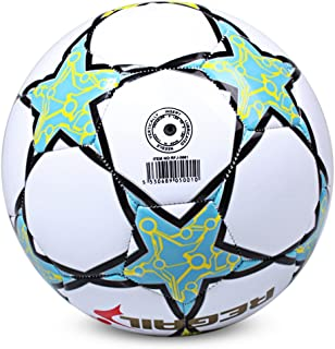 SHUFAGN,Soccer for School Match Training Size 5 Étoile à Cinq Branches(Color:Blanc)