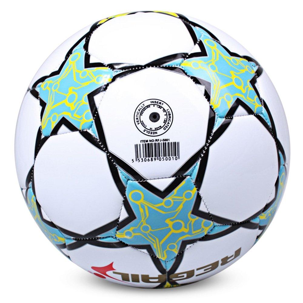 SHUFAGN,Soccer for School Match Training Size 5 Étoile à Cinq Branches(Color:Blanc)