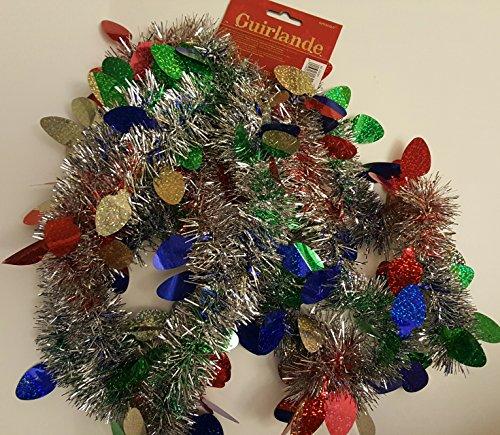 Christmas Lights Prismatic Foil Garland | Party Decoration