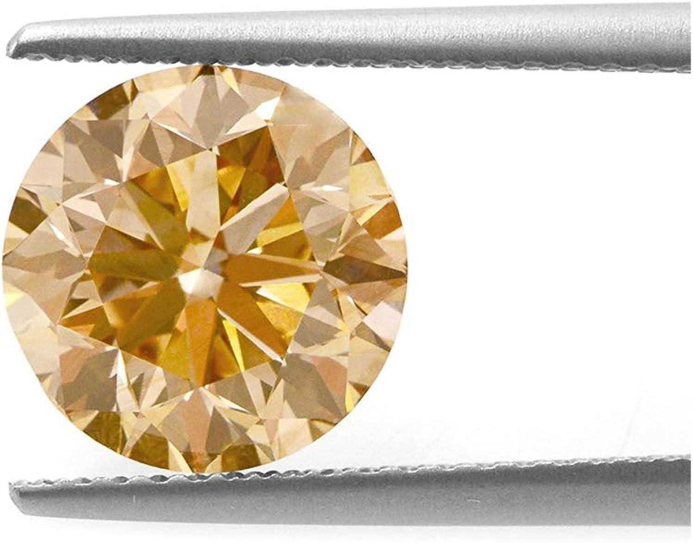 Be You Champán Color Circonio Cúbico AAA Calidad Diamante Corte Redonda Forma Piedra Preciosa Floja