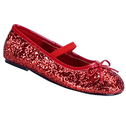 207f96f211809 Girls Glitter Red Shoes