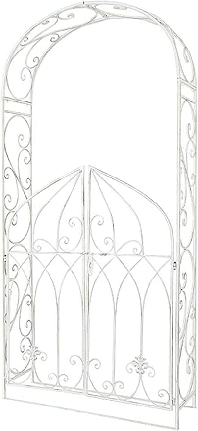 Arco de Metal de Hierro para jardín con Puerta, pérgola de ...