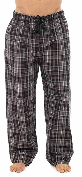 Calcetines Uwear para Hombre de Cuadros Escoceses Cool polialgodón Verano Bottoms Pijamas Lounge Wear Pantalones Negro